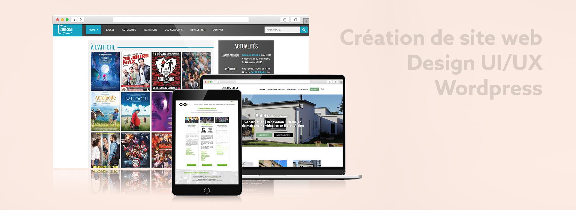 Création de site web - Jérémy Cochet graphiste print & web