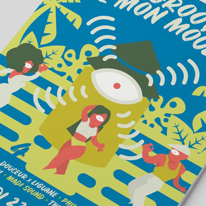 Affiche groove de mon moulin - Jérémy Cochet graphiste print & web