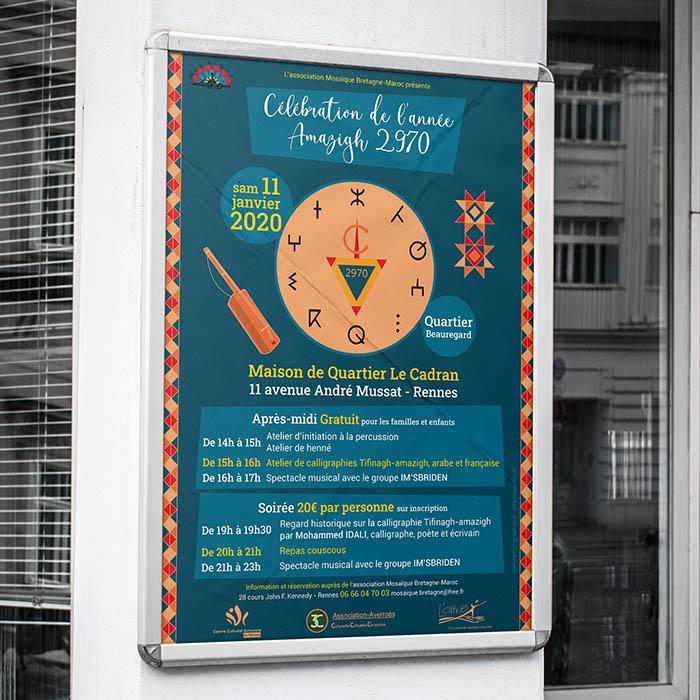 Affiche mosaique bretagne maroc - Jérémy Cochet graphiste print & web