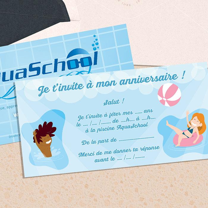 Carte aquaschool - Jérémy Cochet graphiste print & web