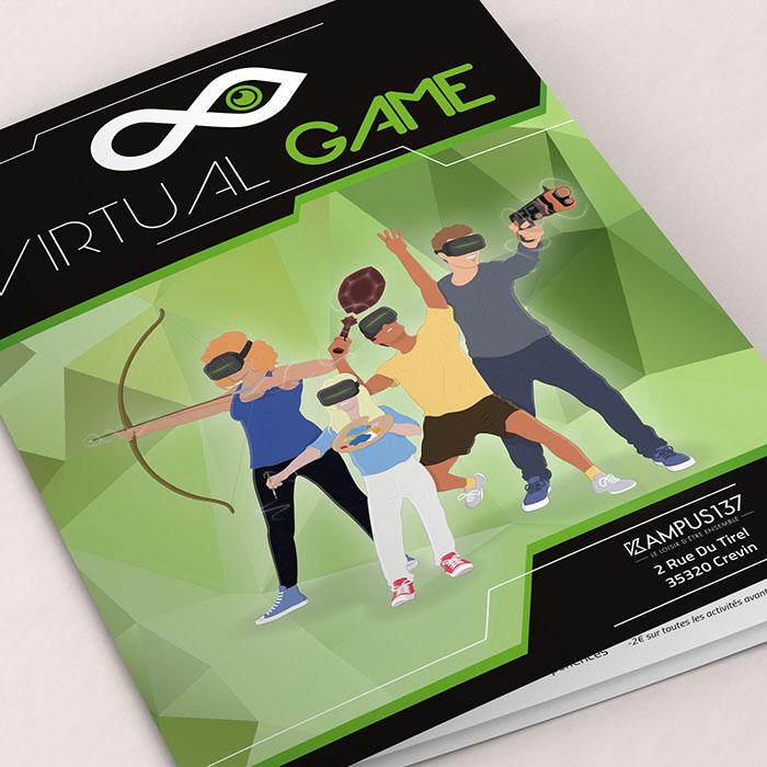 flyer virtual game - Jérémy Cochet graphiste print & web